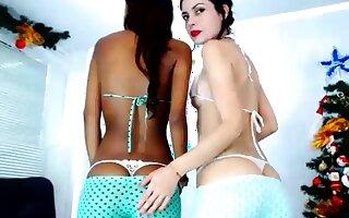 Very Hot Amateur Ebony Teen Couple Fuck on Webcam
