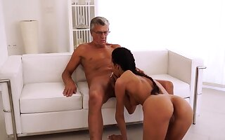 Old dame fucked hard coupled with anal first time Finally she's
