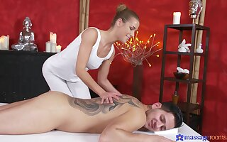 Smashing nude massage leads young lover to bonk the masseuse