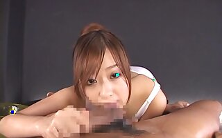 Asian boyfriend POV blowjob with adorable woman Miyu Hoshino