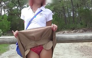 Skinny teen gets naked convenient strand