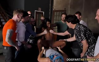 Beautiful Ebony Girl Enjoys Whitey  s Attention