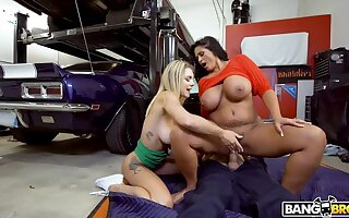 Gabbie Typhoid Mary and Kailani Kai Fuck Motor car Man