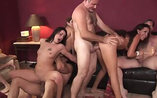 Lacey Luv &  Richelle Ryan &  Leah Luv &  Felony & on every side Orgy Sex Parties #2