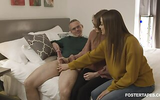 Jerking cock supposing fun for stark naked girls but fucking doggy rough is better