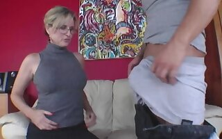 Brat has group oral carry on with experienced woman and stepdaughter