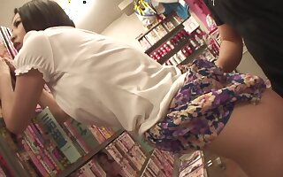Dissipated Asian MILF bangs a stranger in a making love shop