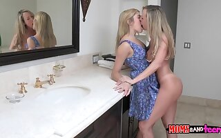 Horny mom who loves young pussy