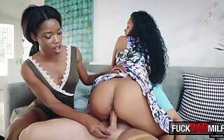 Mya Mays and Jasmyne De Leon in Mothers Interracial Interaction