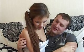 Girl Passionate Sucking Dick Friend of get under one's Father and Doggystyle Fuck
