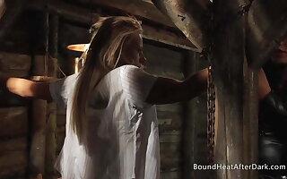 Promised Blonde Lesbian Schoolgirl In Madame's Dungeon