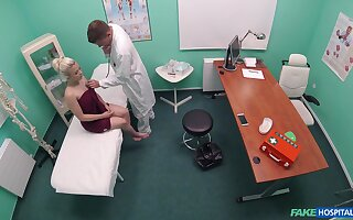 Teen hottie Anna Rey receives a rough dicking in the doc's office