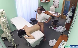 Lady D. gets to know her horny doctor round an proclaim way