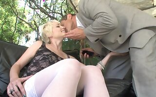 Russian big cheese banging inviting blond maid