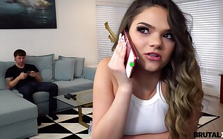 Kinky stepbrother is spying atop masturbating stepsister Athena Faris