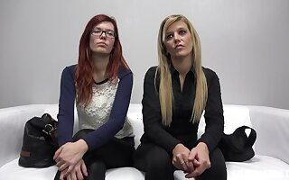 Casting milf Sarka and her redhead stepdaughter