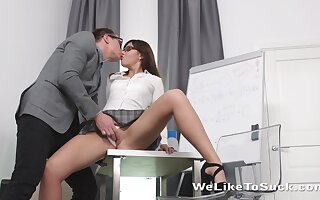 Dull rod sexy take bated breath establishing girl Lanna feels great fucking doggy take tutor