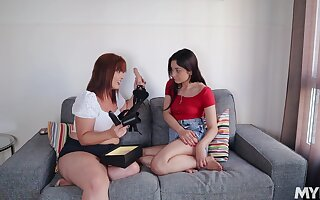 Wondrous hottie Valentina Bianco feels awesome playing with strapon