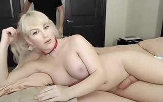 tranny Trap Doing A webcam Show Very blond And Very dirty